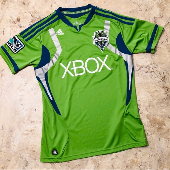save off 263c1 c2d3f Adidas MLS Seattle Sounders Soccer Jersey Youth L